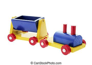 houten speelgoed, trein