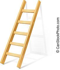 houten stap, ladder