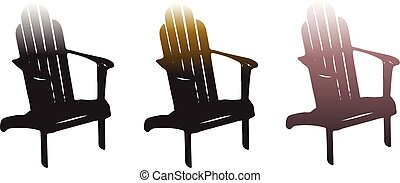 houten stoel, witte achtergrond, pictogram