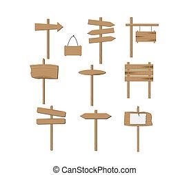 houten, tekens & borden