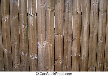 houten, textur, omheining
