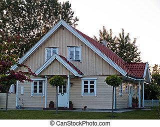 houten, thuis, moderne