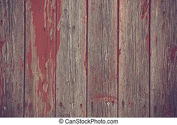 houten, verf , grondslagen, achtergrond, rood