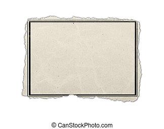 houten, verfrommeld papier, oud, wall.
