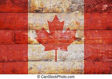 houten, vlag, canada.
