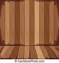 houten, vorm, achtergrond, vloer