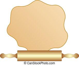 houten, wikkeling, bakken, pin., bestanddeel