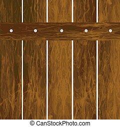 houten, witte achtergrond, omheining