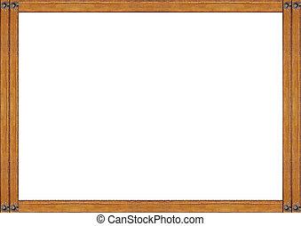 houten, witte , randjes, frame