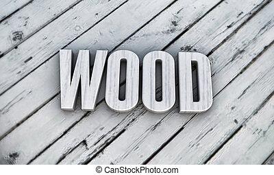 houten, woord