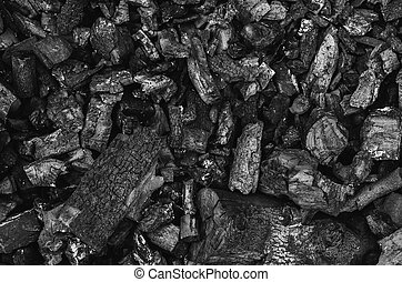 houtskool, black , textuur, achtergrond