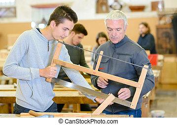 houtwerk, leertijd