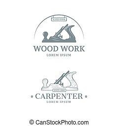 houtwerk, ontwerp, etiket