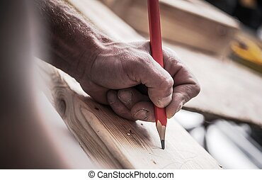 houtwerk, werk, timmerman
