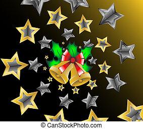 houx, tir, noël, étoiles
