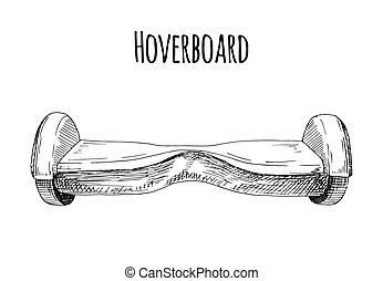Hoverboard isolated on white background. Vector illustration