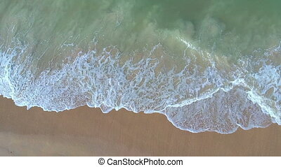hovering above the waves - Drone shot on Canaveral national...