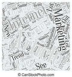 How article marketing changed the face of the Internet Word Cloud Concept