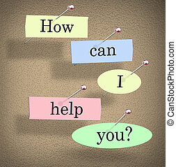 How Can I Help You Words Bulletin Board Question