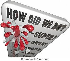 How Did We Do Customer Satisfaction Survey Feedback Level