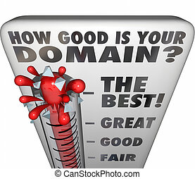 How Good Is Your Domain Thermometer Rating Website Name -...
