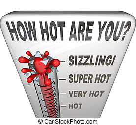 How Hot Are You Words Thermometer Attractive Sexy - The...