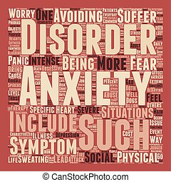 How Is Your Anxiety Today text background wordcloud concept