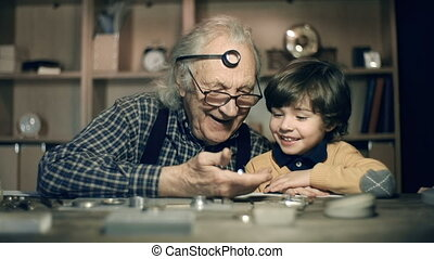How It Is Made - Boy excited with contents of watch...