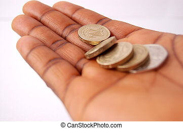How much do I owe? - This is an image of a black hand,...