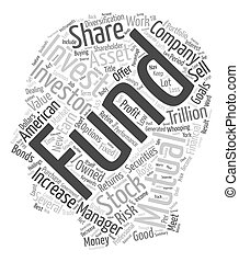 How Mutual Funds Work text background wordcloud concept