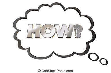 How Question Thought Bubble Thinking Answer 3d Illustration