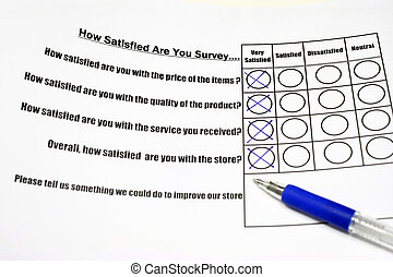 How satisfied are you survey form with tick on the very satisfied column