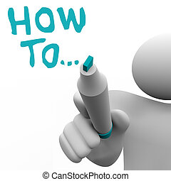 How To Advice Consultant Writes Words Instructions