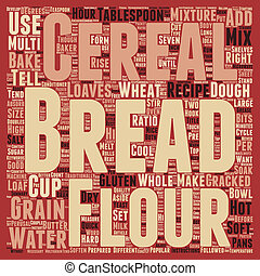 How To Bake Multi grain Bread text background wordcloud...