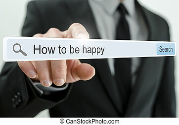 How to be happy written in search bar
