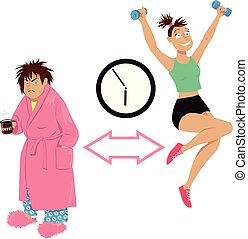How to become a morning person, grumpy woman transformed...