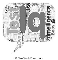 How To Boost Your IQ text background wordcloud concept