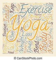 How to borrow from Yoga for Weight Loss text background wordcloud concept