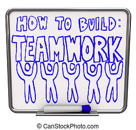 How to Build Teamwork - Dry Erase Board - A white dry erase ...