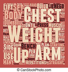 How To Build Your Chest text background wordcloud concept