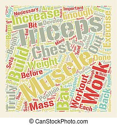 How To Build Your Triceps text background wordcloud concept