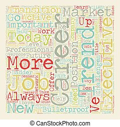 How To Bulletproof Your Career text background wordcloud concept