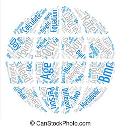 How To Calculate BMR Word Cloud Concept Text Background