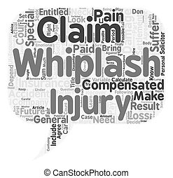 How To Calculate Your Whiplash Claim text background wordcloud concept