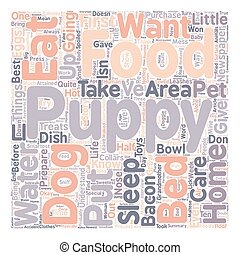 How to Care for Your Puppy text background wordcloud concept