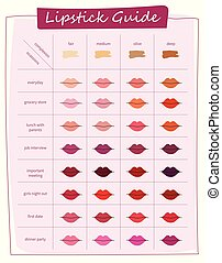 different colors of lipstick