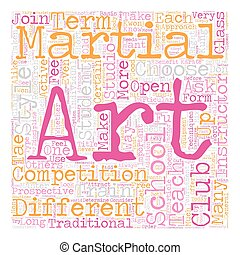 How To Choose A Martial Arts School text background...