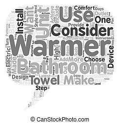 How to Choose Bathroom Accessories text background wordcloud concept