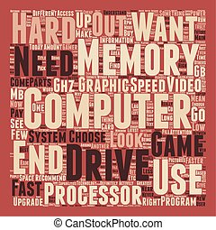 How to Choose The Right Computer text background wordcloud concept
