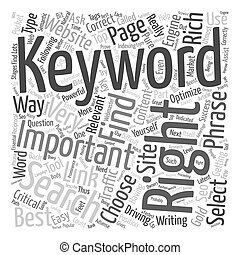 How To Choose The Right Keyword text background wordcloud concept